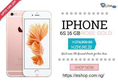 5e1f23c9bc447c Buy iPhone 6S 16GB ROSE Gold in Nigeria at eShop